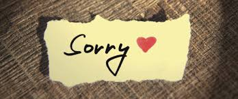 Today, an apology.